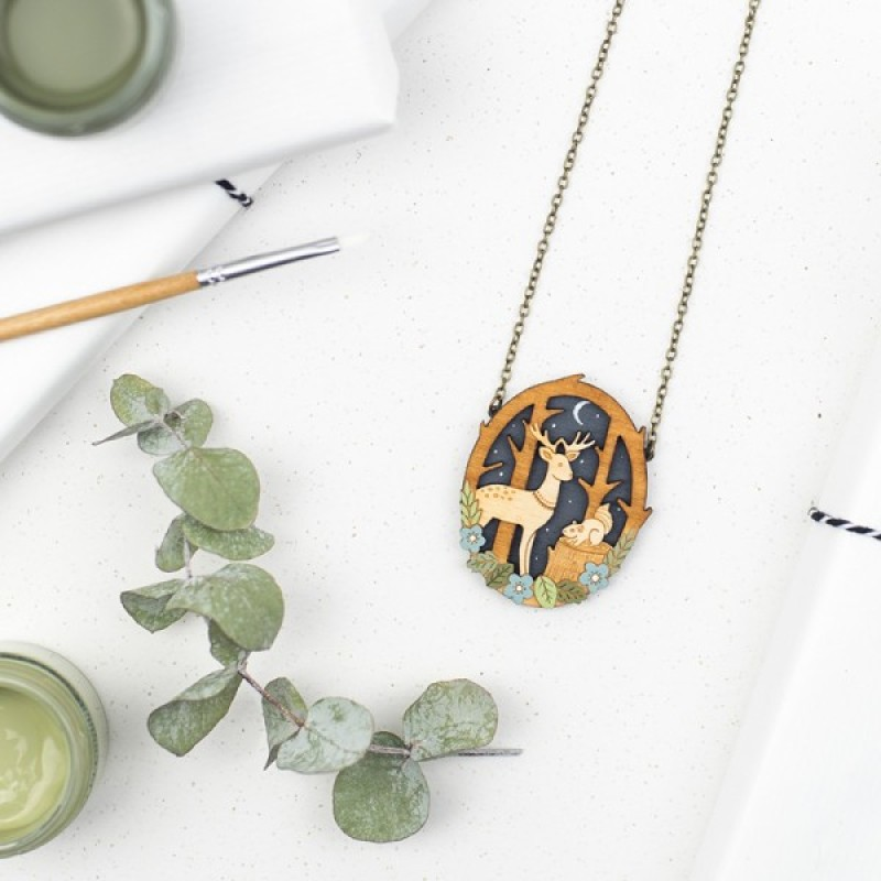 Moonlit Forest Necklace by Layla Amber