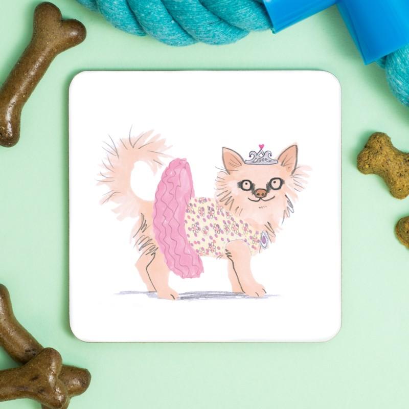 Chihuahua Princess Coaster by Jo Clark