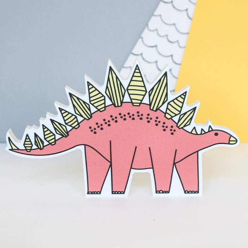 Stegosarus Dinosaur Decoration by Bowler Bear Designs