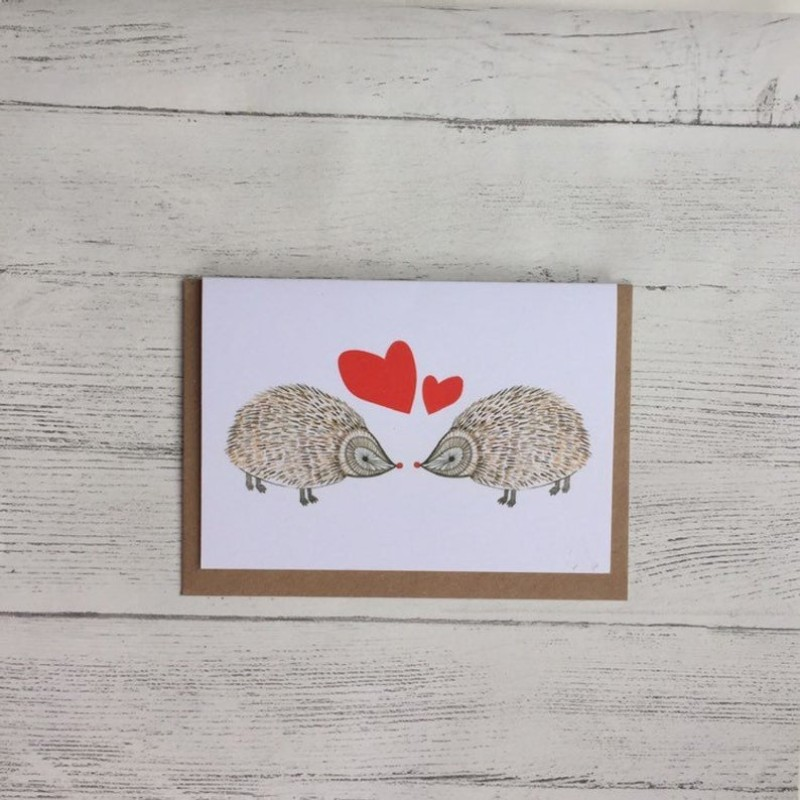 Hedgehog card by OhHelloShan