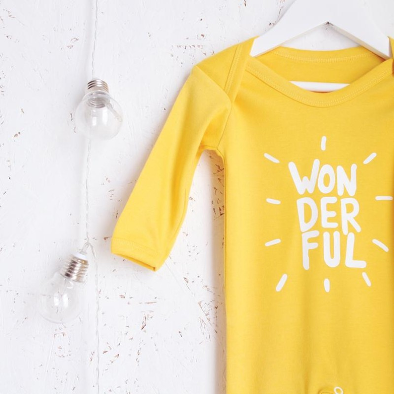 Wonderful Romper in sunshine yellow by HahOnline