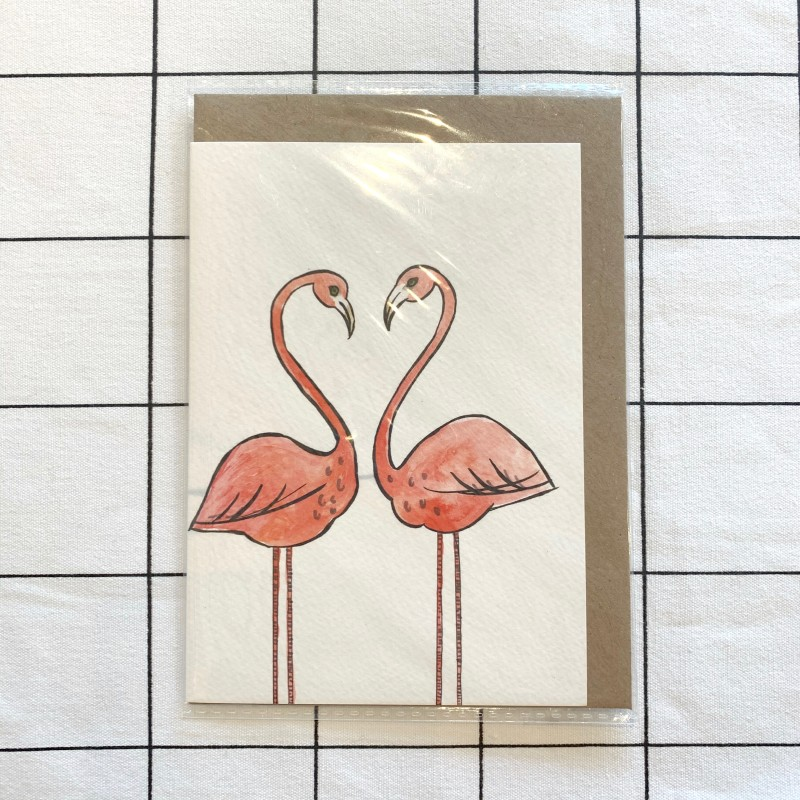 Flamingos Card by Oh Hello Shan