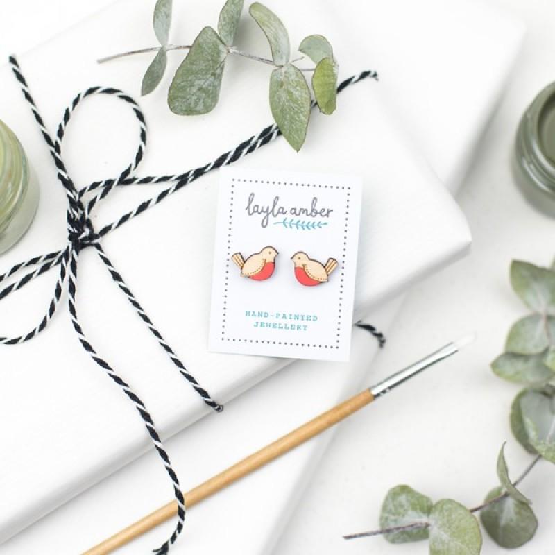 Red Robin Earrings by Layla Amber