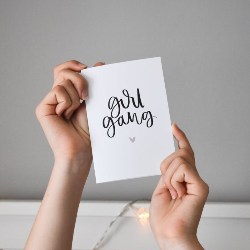 Girl Gang Card by AV Typography