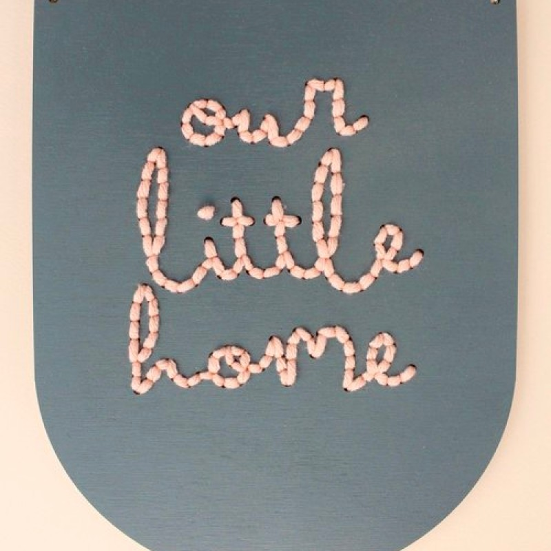 'our little home' large embroidery board kit by Cotton Clara
