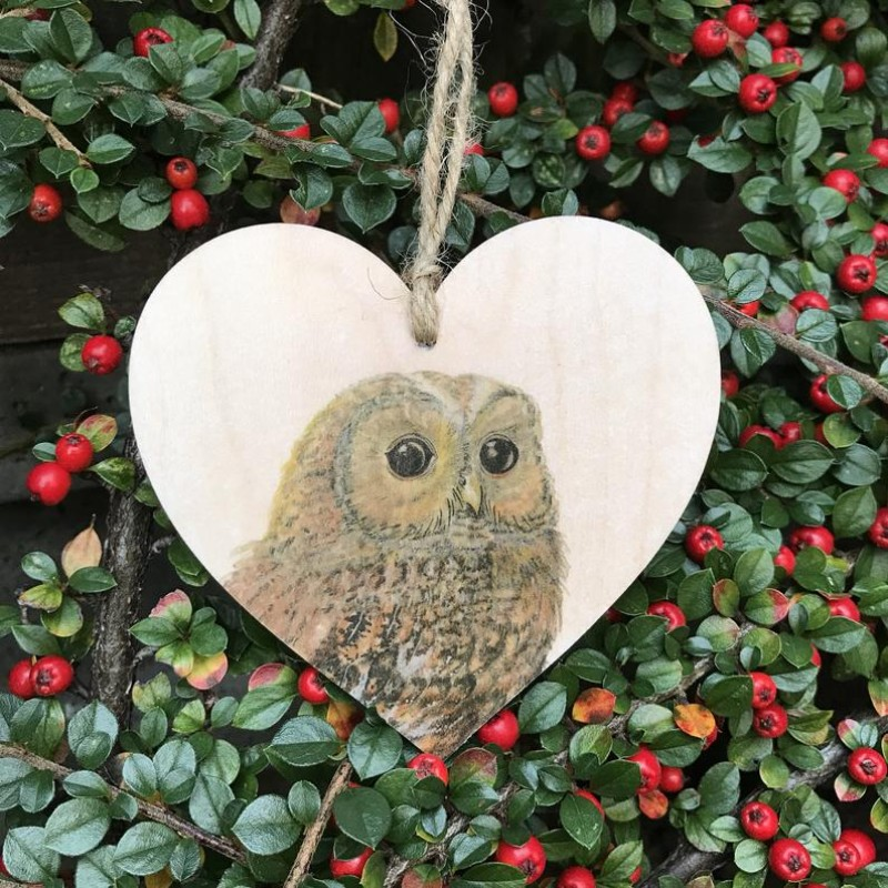Owl Wooden Hanging decoration By Miss Meaney's
