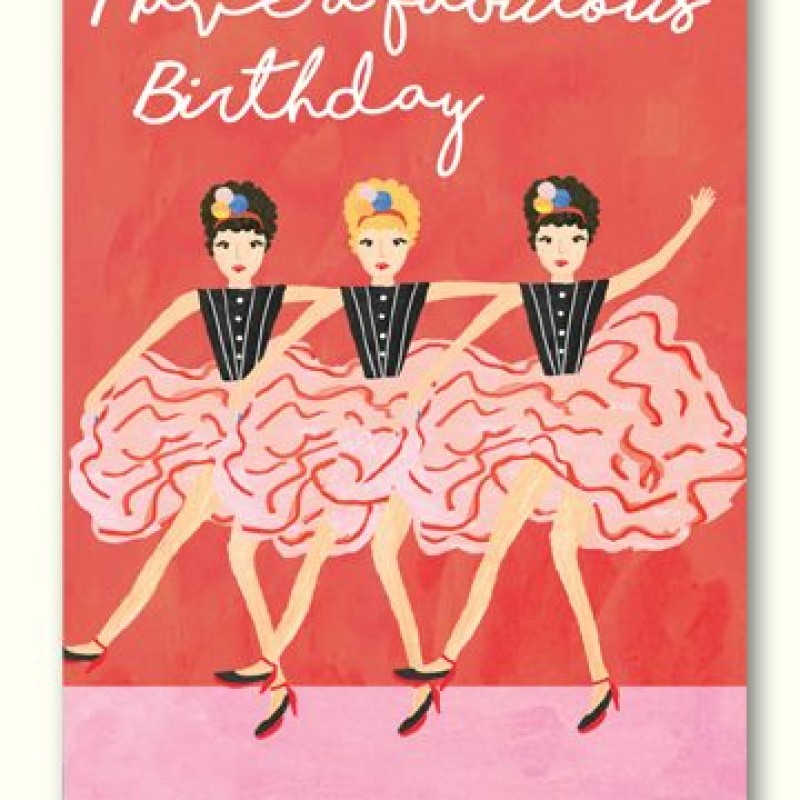 Fabulous Birthday Card by Lou Mills (LIL8)