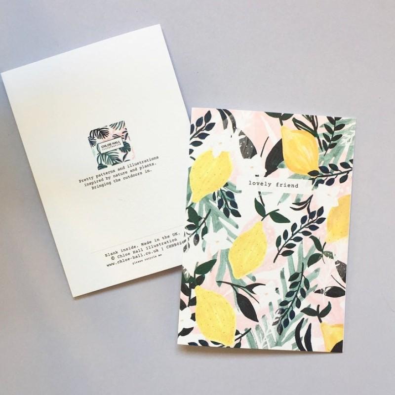 Lemons A6 Notebook (CHNB025) by Chloe Hall