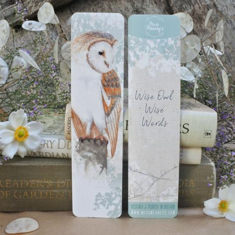 British Barn Owl Bookmark by Miss Meaney's