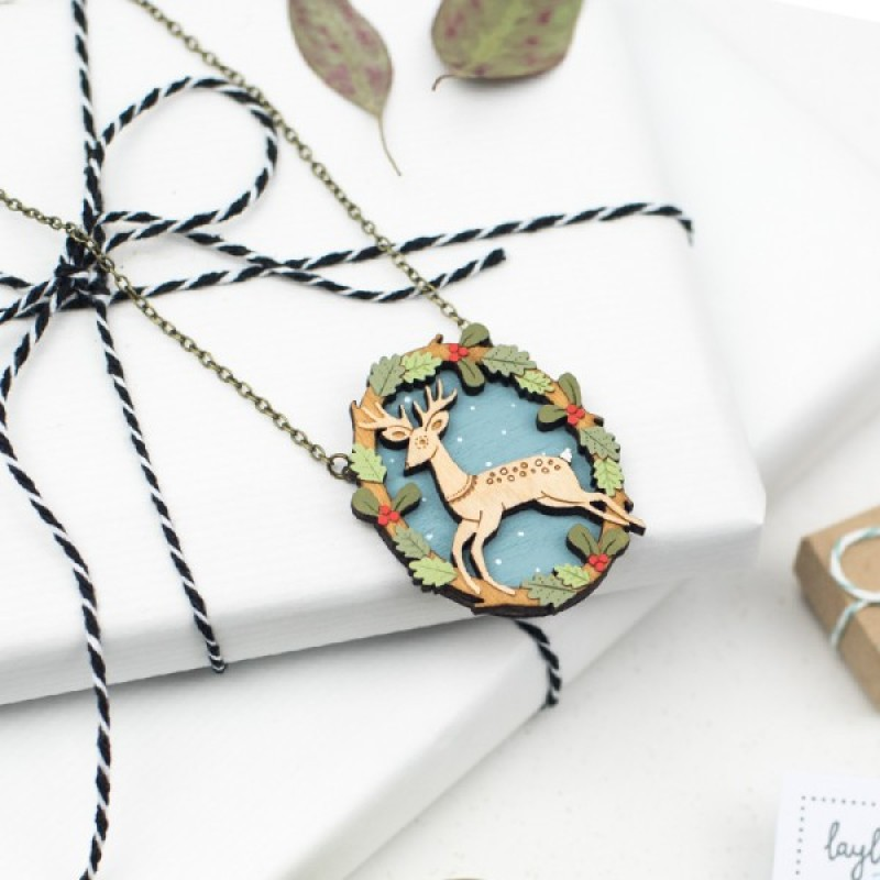 Leaping Deer Necklace by Layla Amber