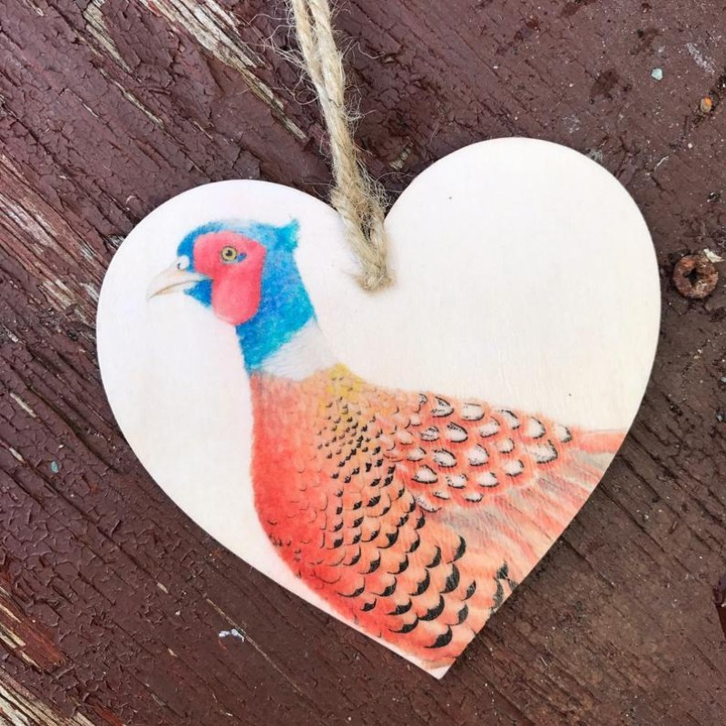 Pheasant Wooden Hanging decoration By Miss Meaney's