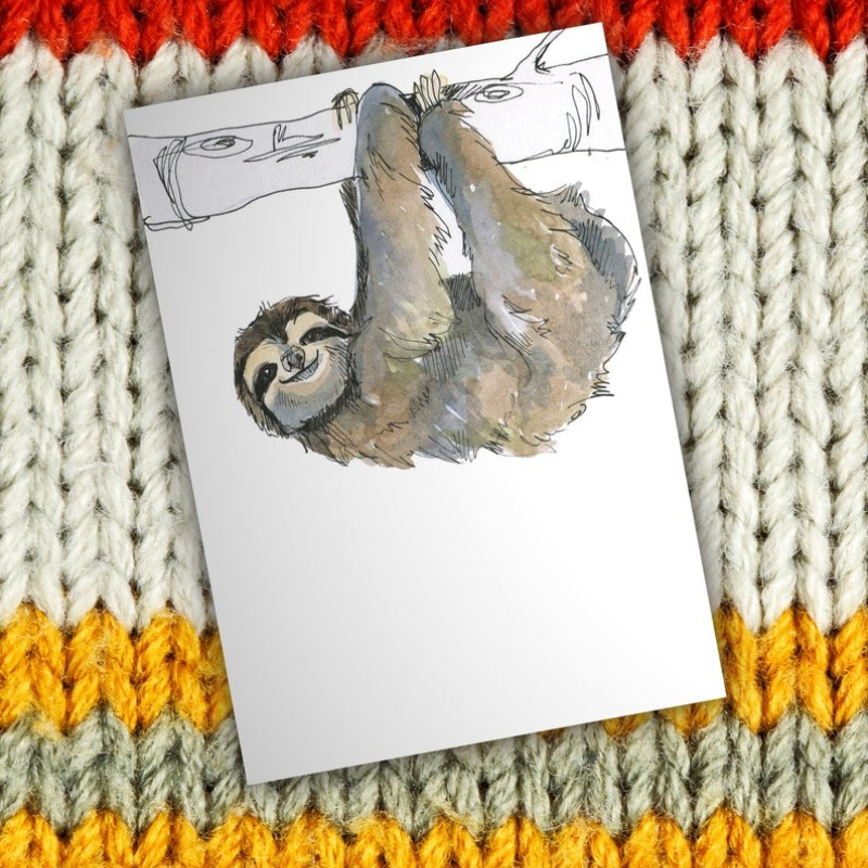 Sloth Card by Snowtap
