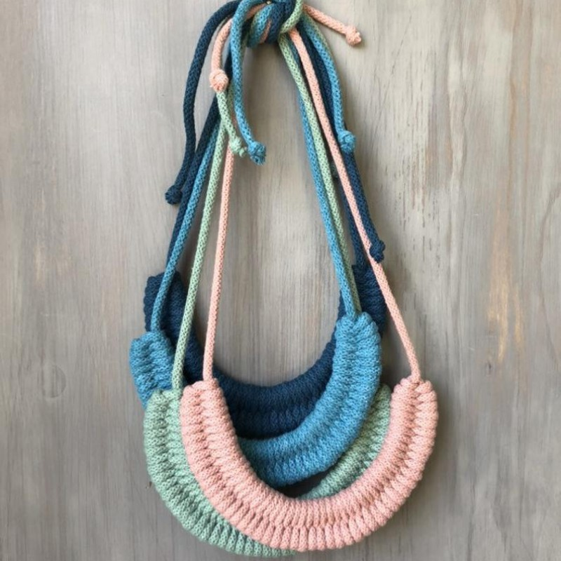 Woven Statement Necklace by Stitching Me Softly