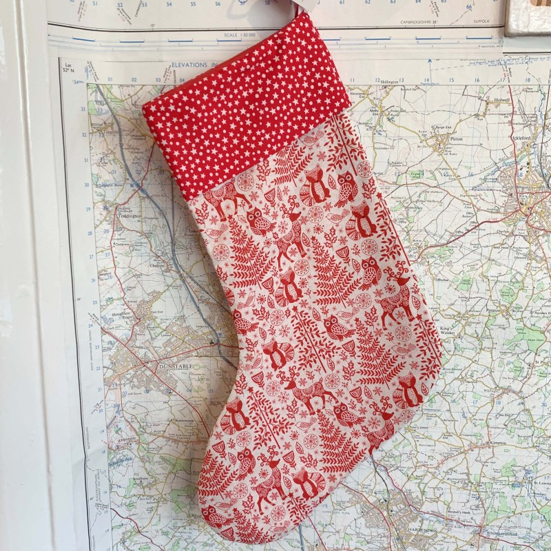 Festive Animals Christmas Stocking by The Makers' Shelf