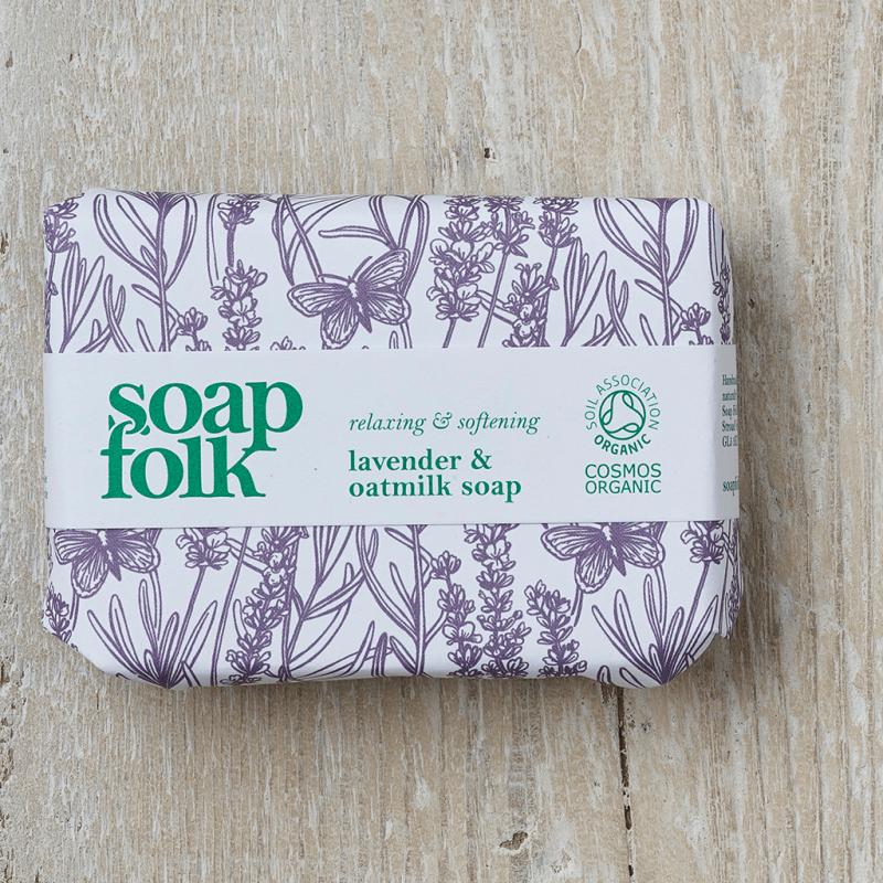 Lavender & Oatmilk Soap by Soap Folk
