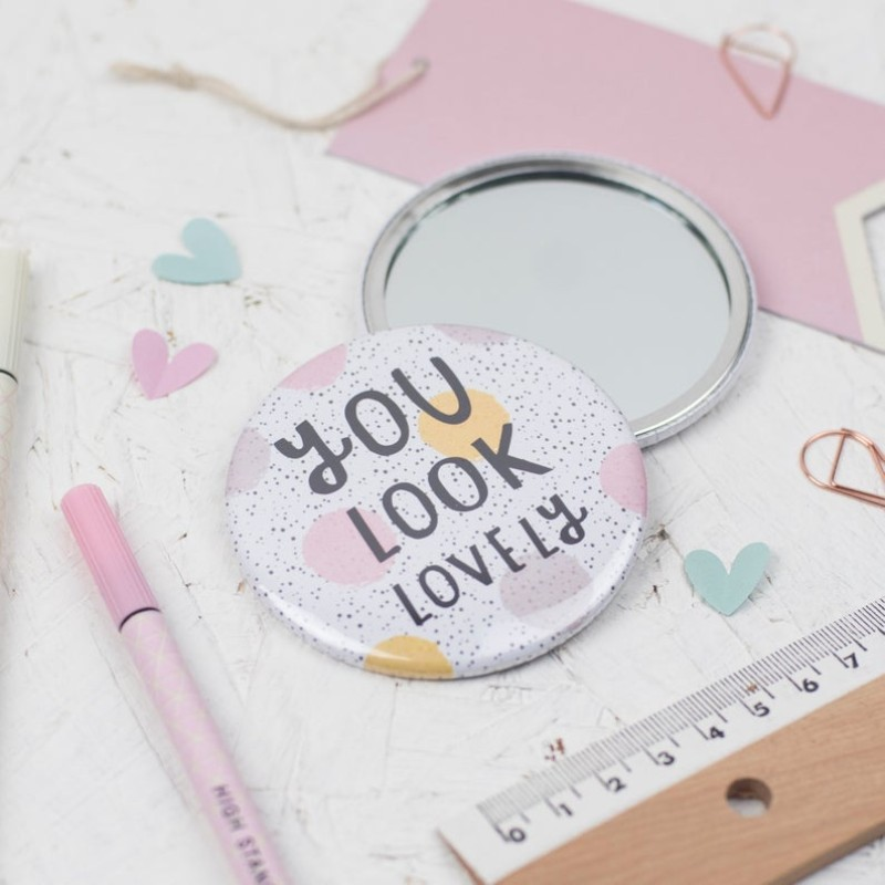 You look lovely pocket mirror by Dainty Forest