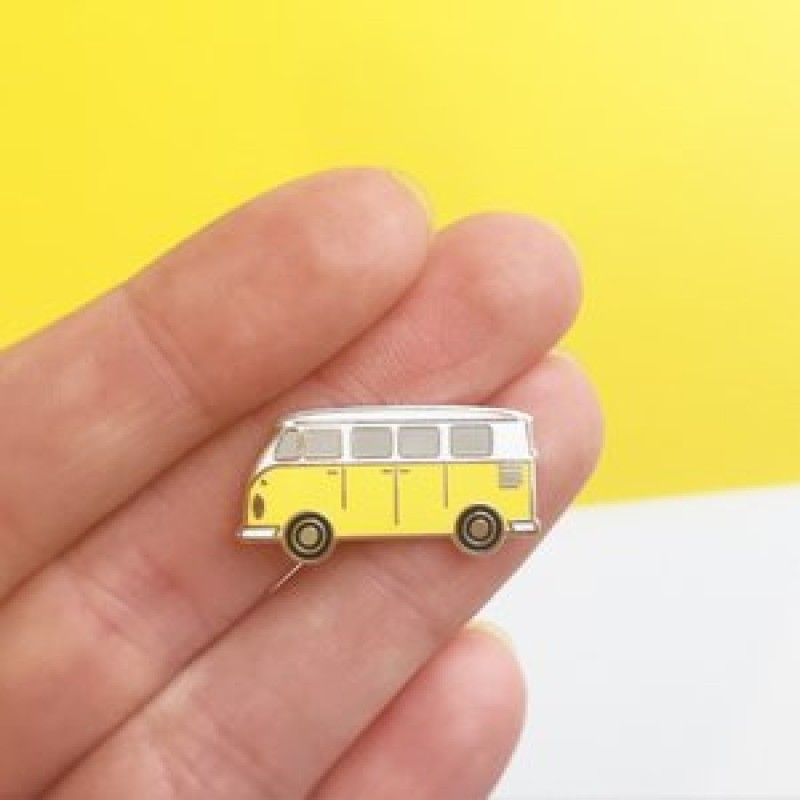SUNSHINE CAMPER VAN ENAMEL PIN by Hello Sunshine
