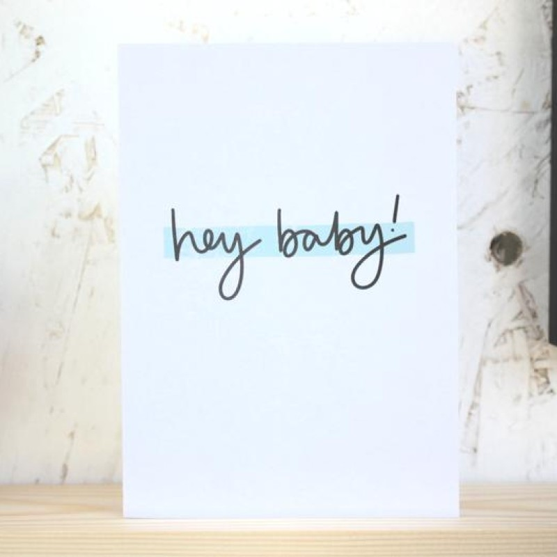 Hey Baby card by Daphne Rosa