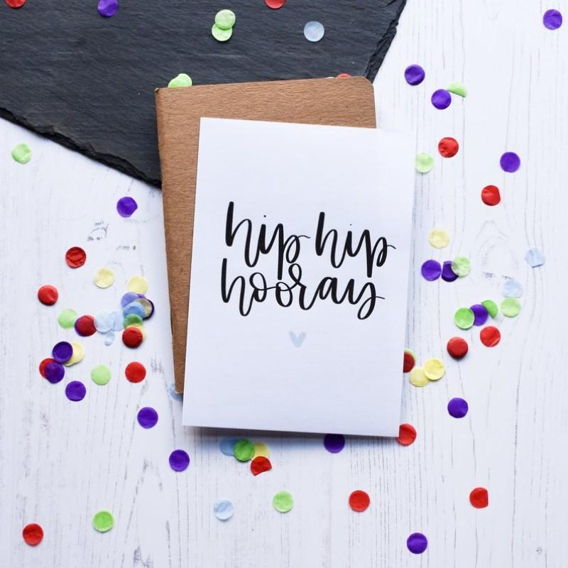 Hip Hip Hooray Card by AV Typography