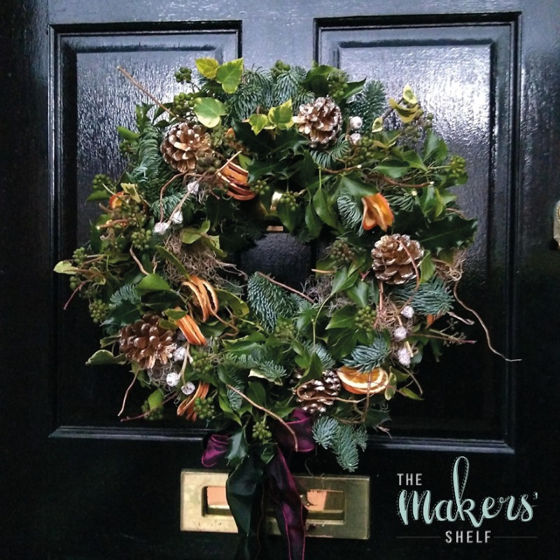 Saturday 7th December (Afternoon) - Festive, Living Door Wreath - 2.5 Hour Workshop