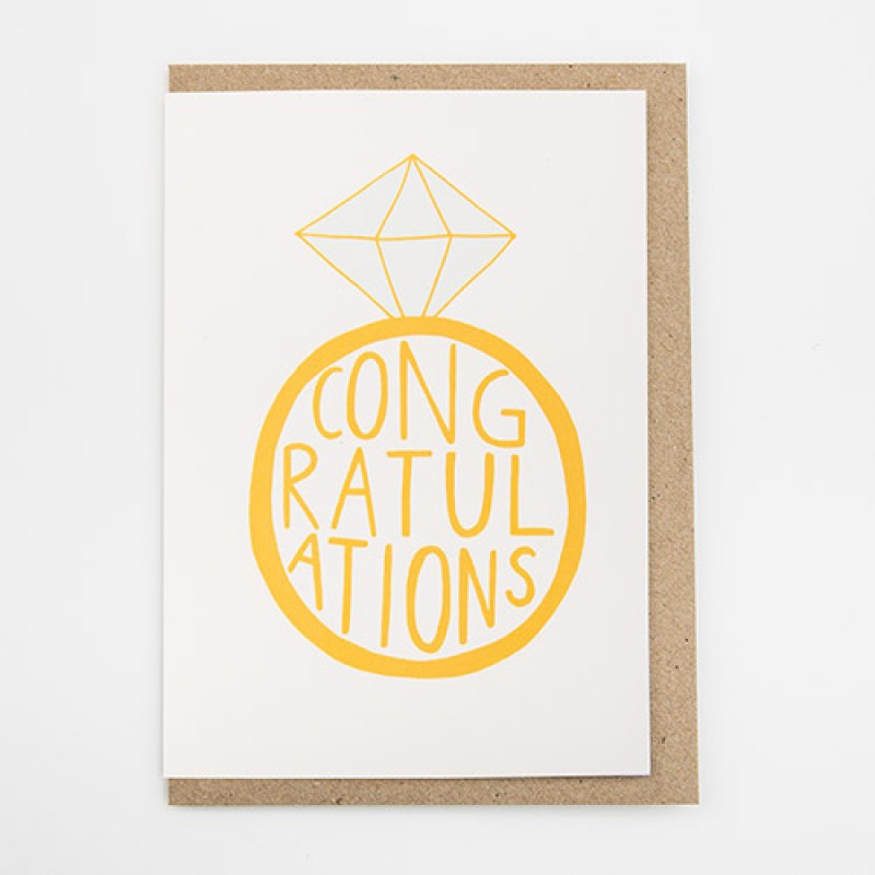 Congratulations card by Alison Hardcastle