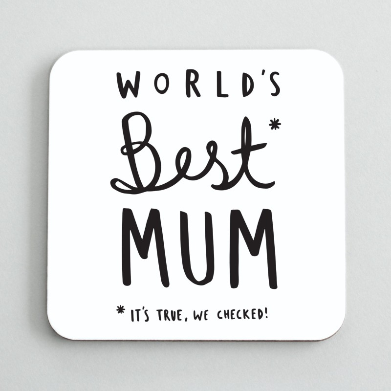 WORLD'S BEST MUM COASTER by Old English Co.