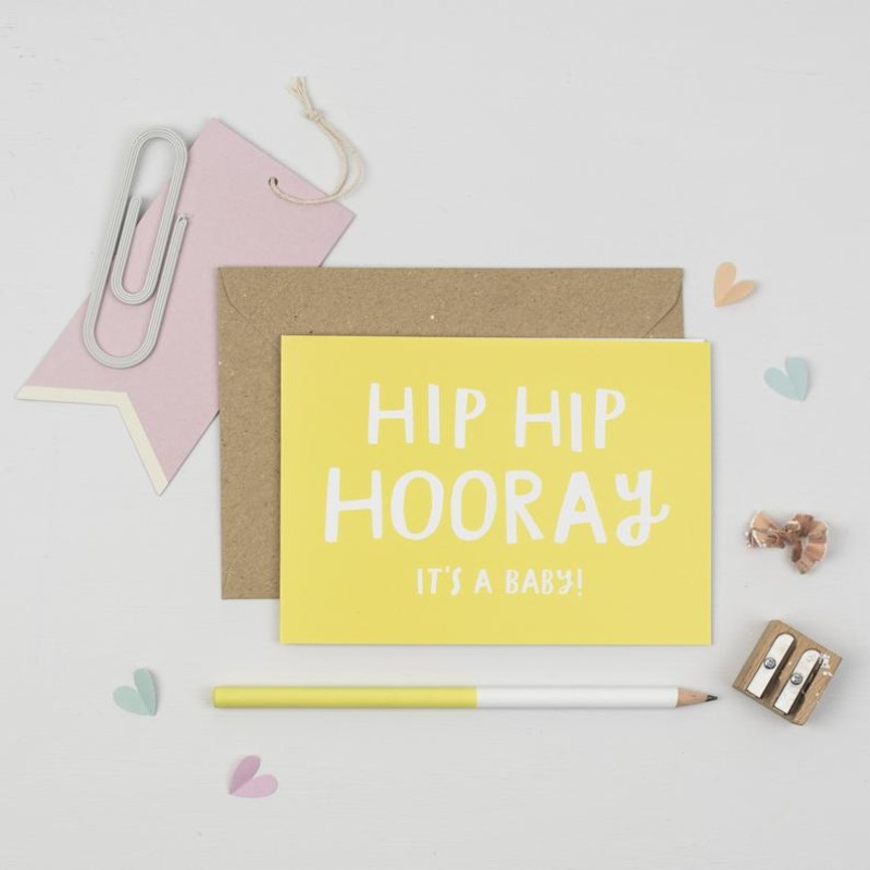 Hip hip hooray it's a baby card by Dainty Forest