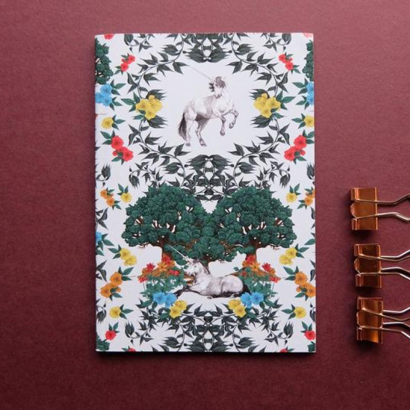 Medieval Unicorn A6 Notebook by Deborah Panesar Illustrations