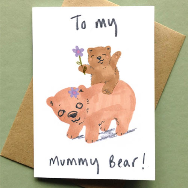 To My Mummy Bear Card by Jo Clark Design