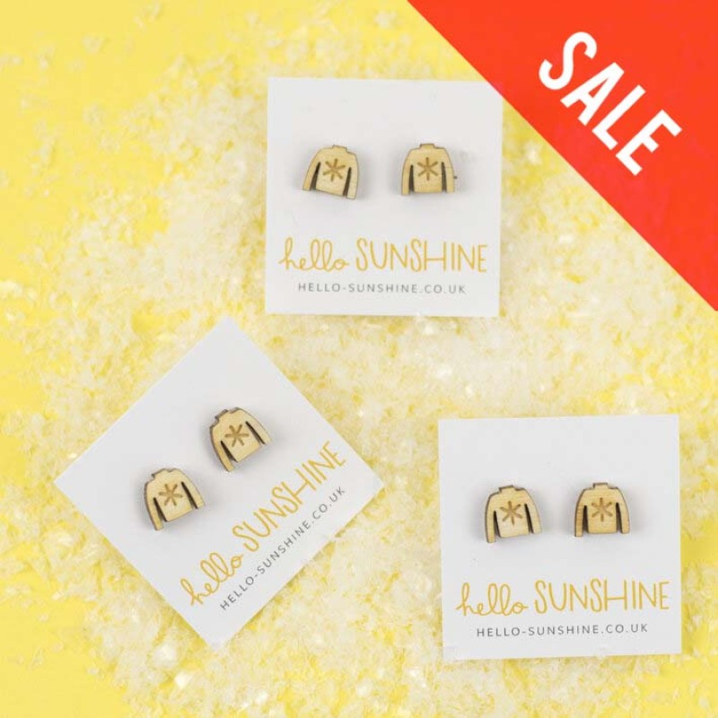 SALE Christmas Jumper Stud Earrings by Hello Sunshine