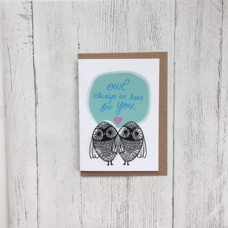 Owl always be here card by OhHelloShan