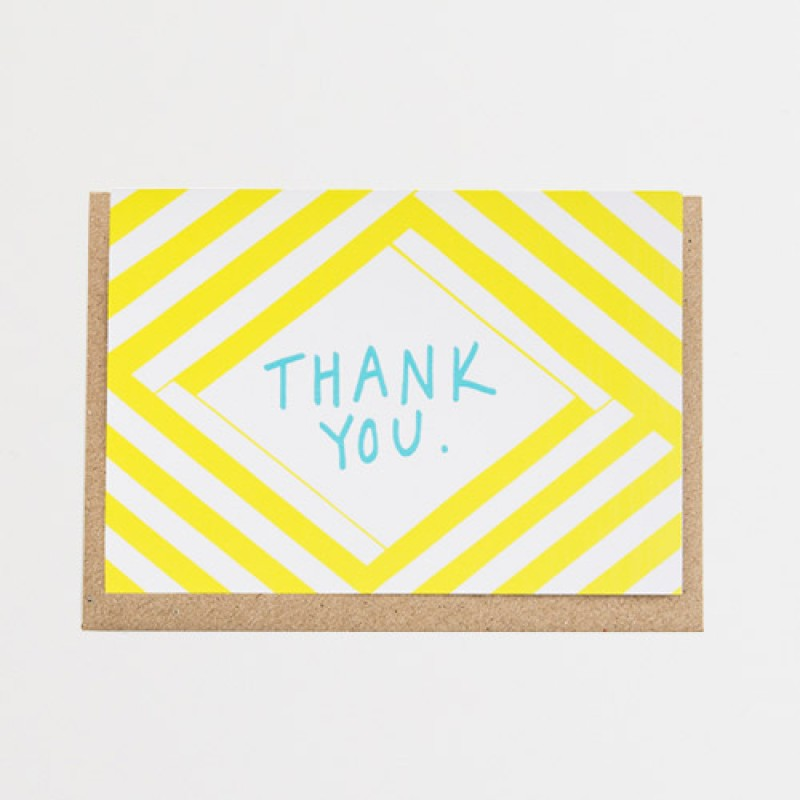 'Thank You Stripe' Cardby Alison Hardcastle