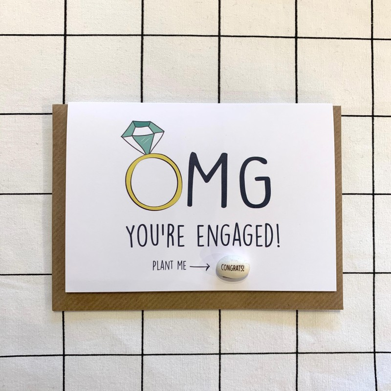 OMG! Engagement Card by Lucy and Lolly