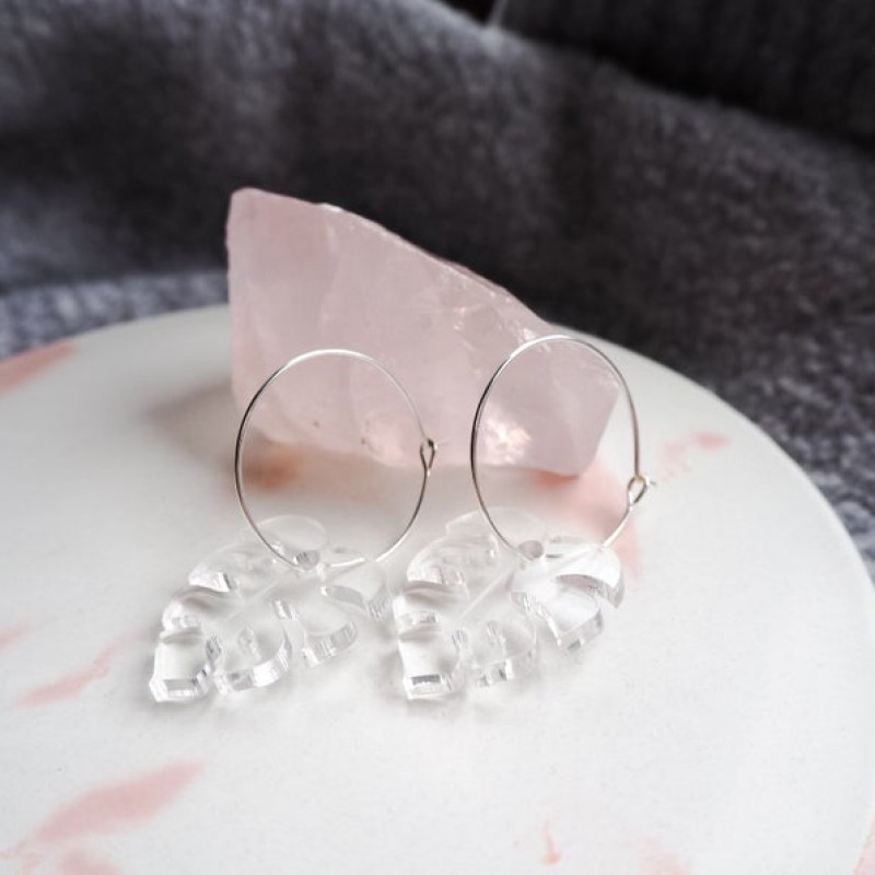 Monstera Hoop Earrings by Lottie Illustration