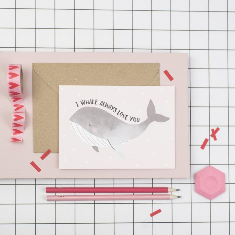 I whale always love you A6 card by Dainty Forest