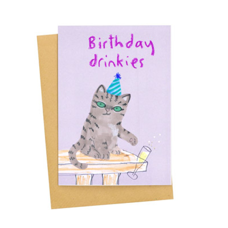 Birthday Drinkies card by Jo Clark