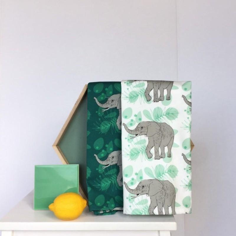 African Elephant Tea Towel by OhHelloShan