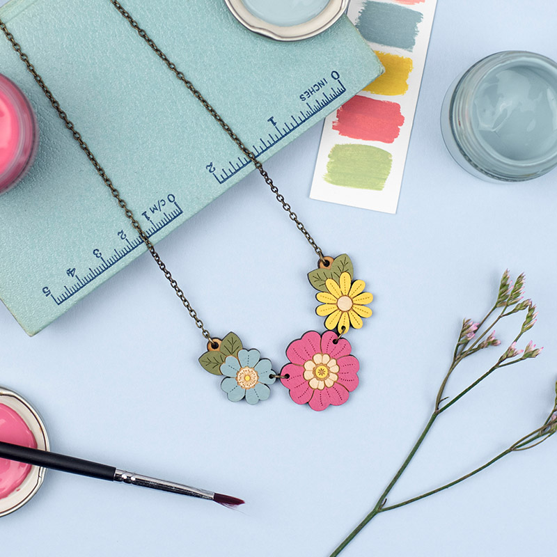 Primrose and Wild Flower Necklace By Layla Amber