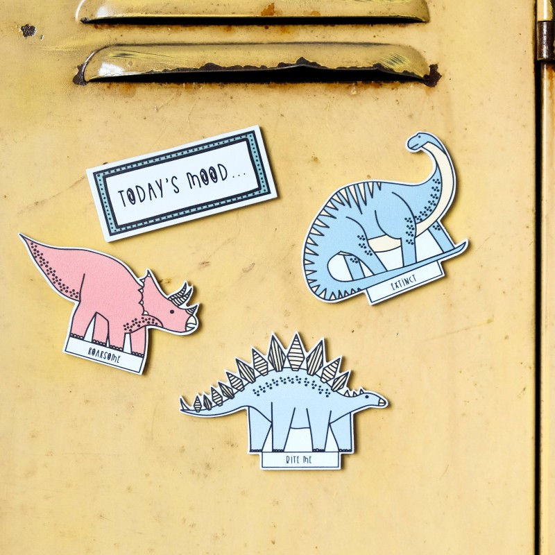 Dinosaur Fridge magnets by Bowler Bear Designs