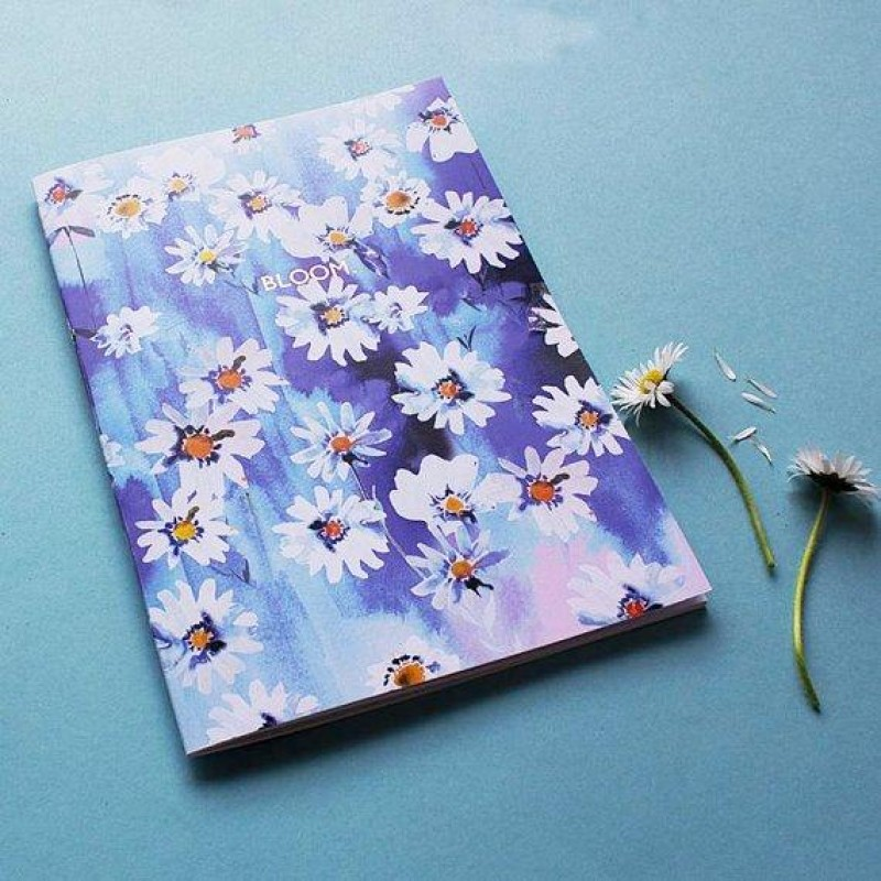 Daisy Chain 'Bloom' Rose gold foiled A5 Notebook with lined pages by Nikki Strange