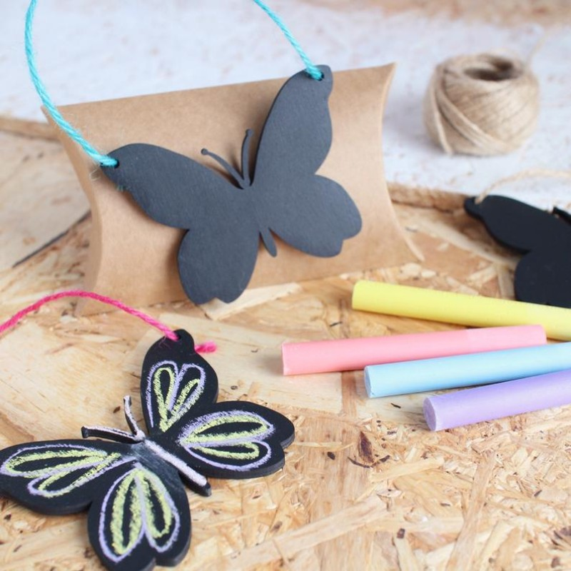 DIY Chalkboard hanging butterfly decoration by HahOnline