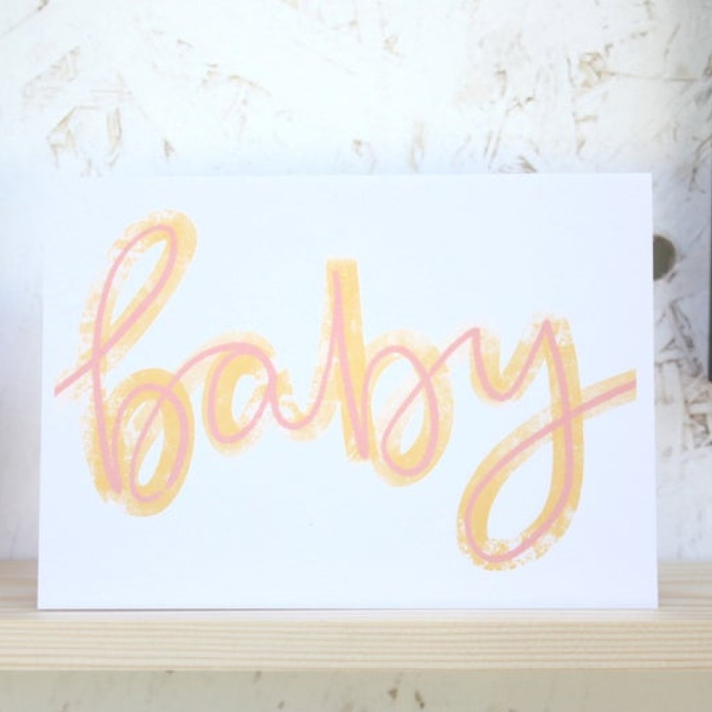 Baby card by Daphne Rosa