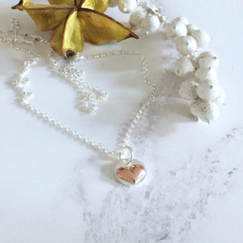 Heart Silver Necklace by Gina Kim Jewellery