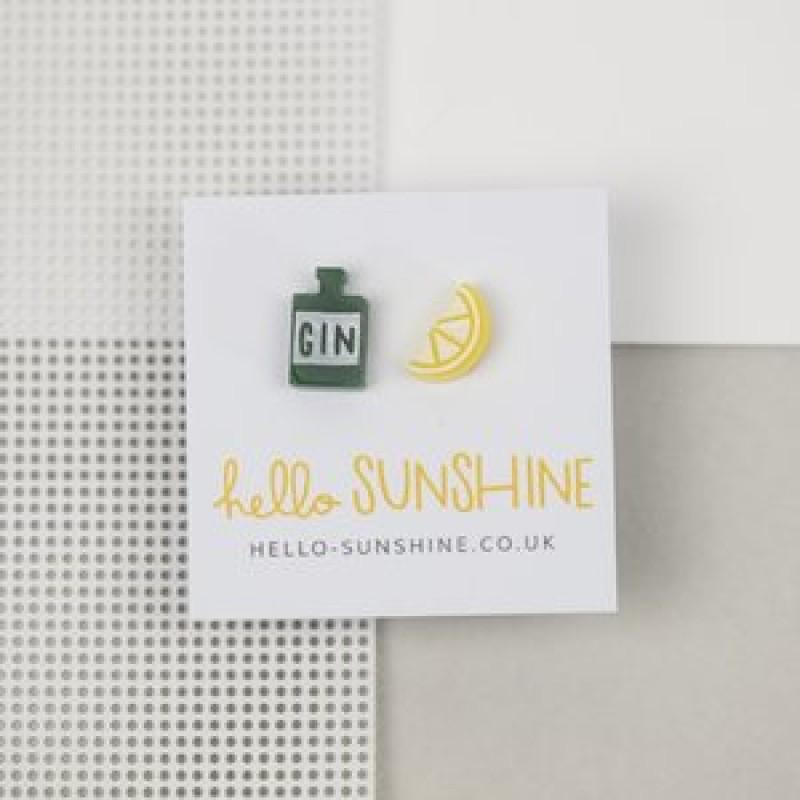 GIN & LEMON EARRINGS by Hello Sunshine