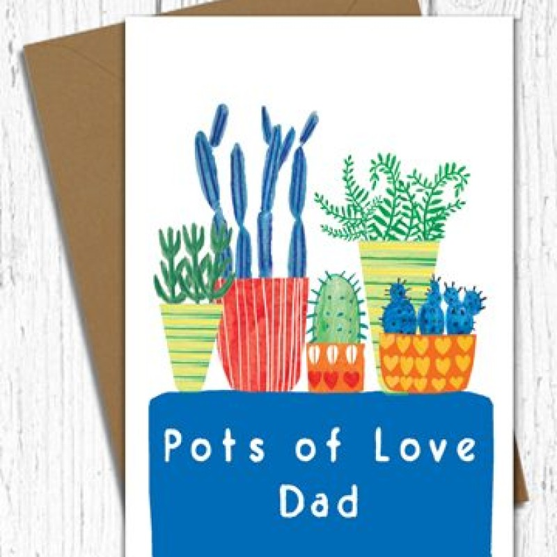 Pots of love card by Lou Mills (BR28)
