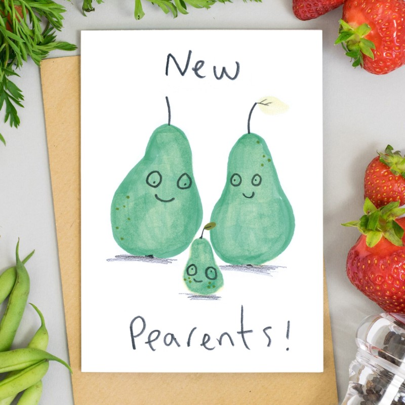 New Pearents Card by Jo Clark