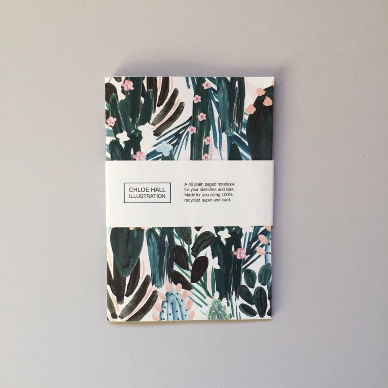 Wild Cactus A6 Notebook (CHNB029) by Chloe Hall