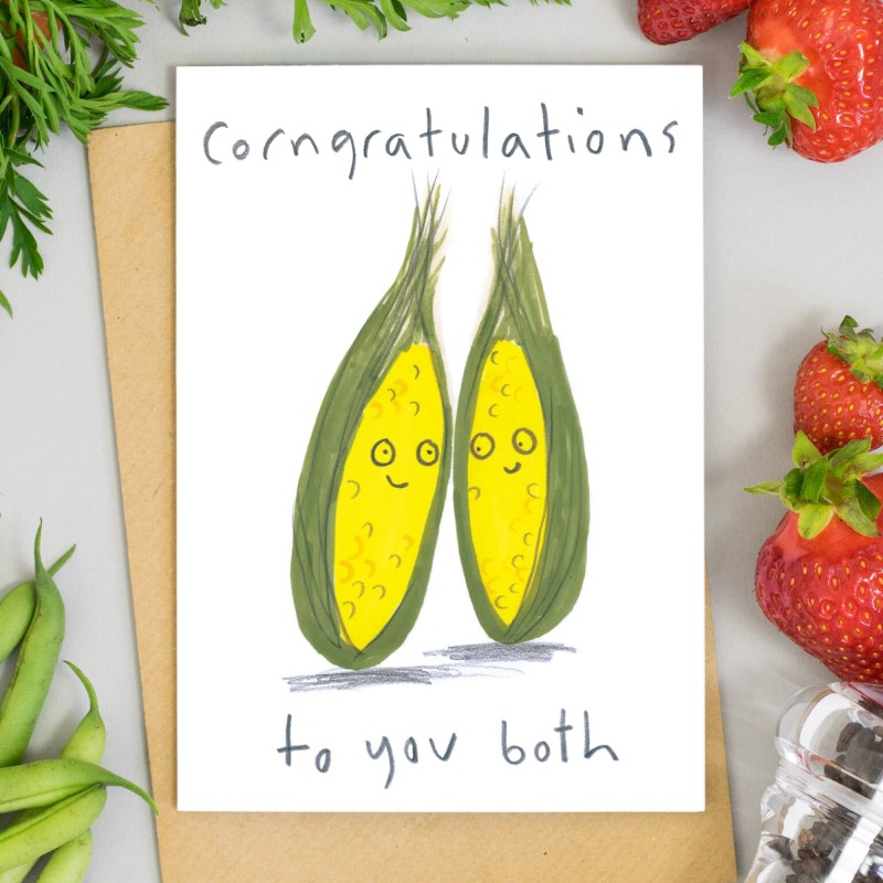 Corngratulations to You Both Card by Jo Clark