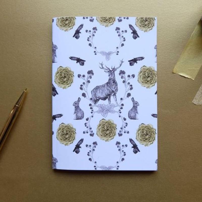 Flora and Fauna A6 Notebook by Deborah Panesar Illustrations