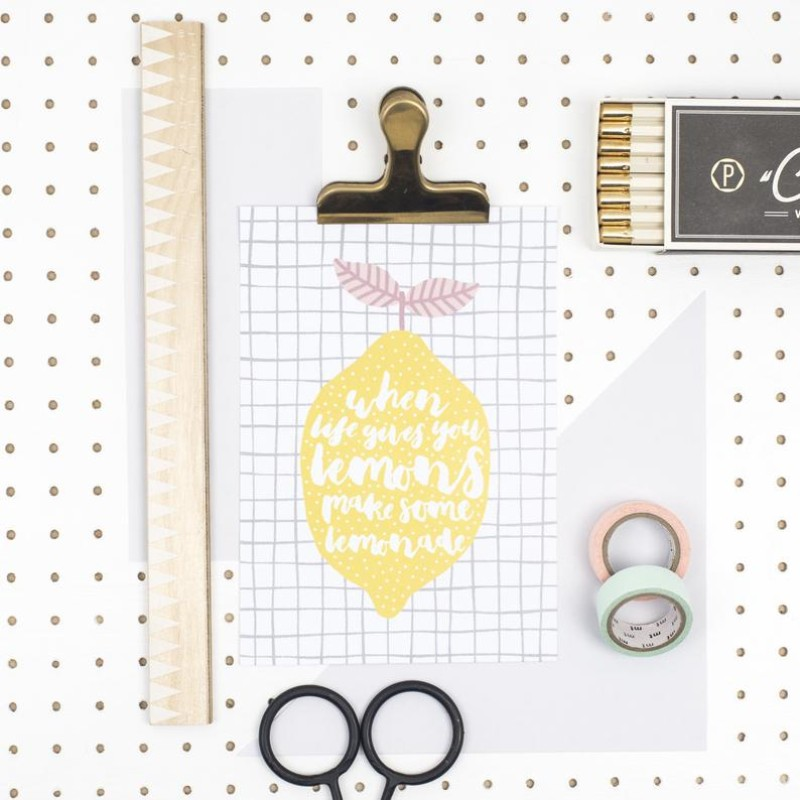 When Life Gives You Lemons Print by Dainty Forest